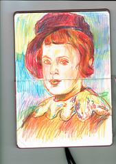 SIN MÁS (GARGABLE) Tags: angelbeltrán gargable cuaderno colores composición portrait retrato sketch drawings dibujos