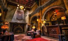 Lobby of Terror - EXPLORE (Matt Valeriote) Tags: hdr disney disneyland californiaadventure hollywoodland towerofterror twilightzone hollywoodtowerhotel lobby