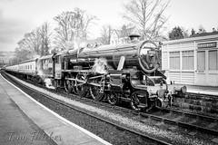 '45212 LMS 5MT 4-6-0' - BLACK 5 STANDS AT GROSMONT (tonyfletcher) Tags: black5 lms5mt460 45212 tonyfletcher nikond3300 nikkor18105 nikon nymr northyorkshiremoorsrailway grosmont steam april2nd2017