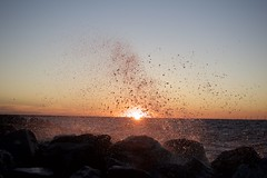 Solar flares in Lake Pontchartrain! (prashantghimire1) Tags: watersplash evening solarflares neworleans sunset nepali louisiana pontchartrain lake