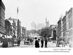 State St.,  1905  albany ny (albany group archive) Tags: early 1900s