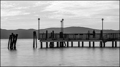 Place (MirkaDR) Tags: second black white sun lake place italy pier calm zen nature smells relax shades love beautiful beauty balance harmony landscape sunset water sky cloud background outdoor view peaceful nobody