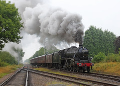 Doom & Gloom (Treflyn) Tags: lms stanier black 5 460 45305 quorn woodhouse station great central railway recreation stopping service last days steam timeline events photo charter