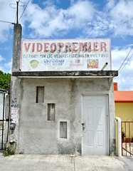Video Premier (Rob Sneed) Tags: mexico sanmigueldecozumel cozumel videopremier urban urbex abandoned store waltdisney videomax warnerbros fox videostore independent retail sign ghost advertising architecture vhs dvd movies rental homevideo