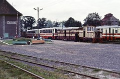 Loco Lyd-1 200  |  Elk PKP  |  1990 (keithwilde152) Tags: lyd1 elk wask masuria pkp poland 1990 station narrow gauge building architecture tracks pasenger train diesel locomotives outdoor autumn