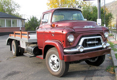 1957 GMC 370 COE 2 Ton Truck (Eyellgeteven) Tags: classic truck vintage cherry gm shiny forsale antique transport chrome 1950s 1957 vehicle gmc v8 coe madeinusa 2ton americanmade flatbed generalmotors heavyduty showtruck cabover stakebed generalmotorscorporation caboverengine eyellgeteven
