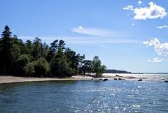 And the Sun was Shining... (50v) Tags: blue sea sky sunshine clouds finland island helsinki rowan pihlajasaari