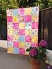 Pink, yellow, blue Jennifer P quilt (sewfunbymonique) Tags: maggie patchwork circa valerie jenniferpaganelli caseyscroll sewfunbymonique