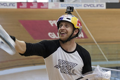Danny MacAskill (DMeadows) Tags: show street charity chris red skye bike bicycle for cycling scotland bmx track ride glasgow low helmet n inspired skills drop bull fresh arena emirates tricks event cycle hoy danny and roll trick venue rider trials trial velodrome pedal stunt stunts handling freebies macaskill gopro davidmeadows dmeadows davidameadows