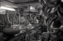 clutter (dzornes) Tags: white black film netherlands 35mm mju olympus scan ii plus hp5 analogue groningen ilford