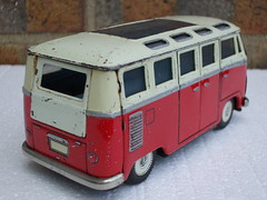 Vintage Made In Japan Tinplate VW Split Screen Type 2 Samba Deluxe Microbus (beetle2001cybergreen) Tags: 2 japan vw vintage samba deluxe screen made type split microbus in tinplate