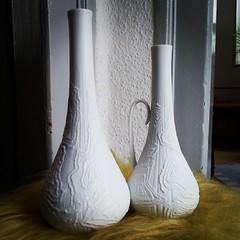 Yesterdays thrifting! (*blythe-berlin*) Tags: vintage square lofi biscuit squareformat kaiser porcelain vases porzellan biskuit vasen ilovevintage iphoneography instagramapp uploaded:by=instagram