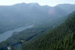 Blick aus der Seilbahn auf den Capilano Lake; Grouse Mountain, North Vancouver (76) (Chironius) Tags: trees canada tree vancouver wasser rboles britishcolumbia boom arbres rbol albero landschaft bume arbre rvore baum trd kanada aa