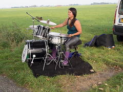 Tocht om de Noord 2014 (Jeroen Hillenga) Tags: wandelen drummer drumming groningen wandeltocht drummen drumstel westerkwartier tochtomdenoord tochtomdenoord2014