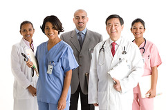 Medical Studio (tigercop2k3) Tags: portrait woman chart man male smiling female togetherness holding african unity happiness file medical whitebackground doctor inside nurse studioshot labcoat youngadult ethnic colleague youngwoman stethoscope teamwork multiracial midadult senioradult seniorman midadultwoman lookingatcamera imagesource fivepeople eastasianethnicity
