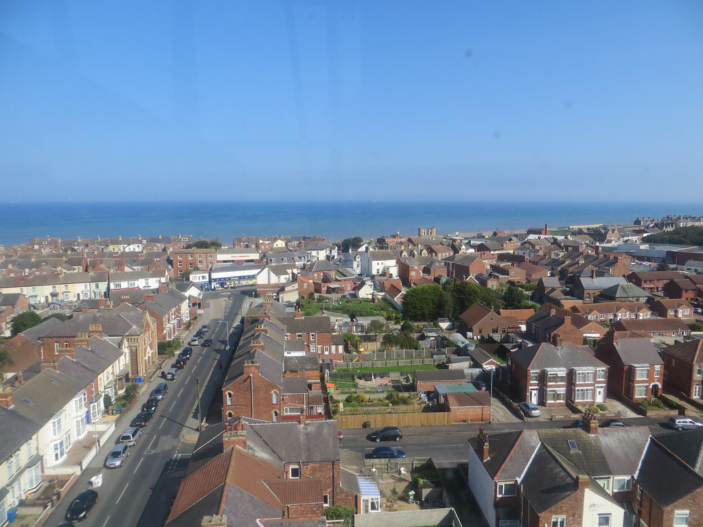 Withernsea.  View from the lighthouse which is situated in the middle of the town.