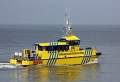 SC FALCON / Offshore Crew Transfer Vessels for Wind Farms - CTV (cuxclipper ) Tags: boat schiff tender cuxhaven katamaran versorger shipelbe scfalcon offshoretaxi