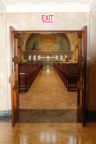 Entering the Basilica