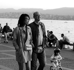 Happy Couple and child (Toronto arrival) Tags: city family summer blackandwhite white lake black art fall love monochrome smile face smiling dark square mono see photo mixed hands opera couple asia child view faces sweet dusk walk platz zurich lakeside daytime biracial crowds bellevue caucasian thomas8047