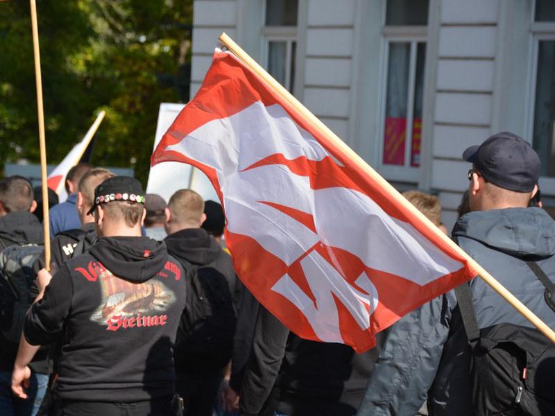 Fotogalerie des Neonazi-Aufmarsches in Döbeln