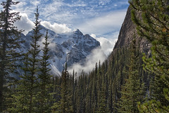 LAKE LOUISE TEA HOUSE HIKE (mark_rutley) Tags: trees snow canada mountains clouds pines lakelouise teahouse canadianrockies