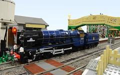 "Lego LNER Peppercorn A1 ""Tornado"" (GWBS 2014) side (michaelgale) Tags: castle lego pacific steam locomotive a1 corfe tornado peppercorn moc 2014 lner bricktrix"