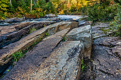 Rock formations (rdpe50) Tags: park fall water colors rock forest river landscape quebec national tremblant mont formations sonya65