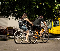 The City of Bicycles (diogoOgawa) Tags: street brazil bike bicycle brasil cycling downtown centro bicicleta center riding santacatarina joinville