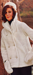 Sears 64 fw white furry coat (jsbuttons) Tags: winter white clothing furry 60s buttons sears coat womens 64 catalog sixties 1964 vintagefashion doublebreasted