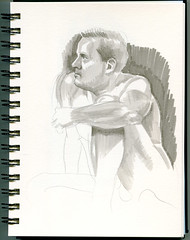 life drawing at Redline Denver (paul heaston) Tags: art notebook nude sketch drawing journal sketchbook figuredrawing redline lifedrawing