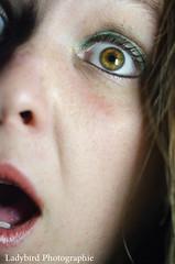 Surprise ! (ladybird13420) Tags: portrait woman color eye girl face nikon fear makeup oeil surprise maquillage visage selfie d5100 afs60microg