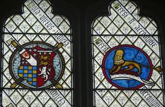 [26613] Sheffield : Shrewsbury Hospital : East Window (Budby) Tags: sheffield shrewsburyhospital almshouses southyorkshire 19thcentury church chapel window stainedglass armorial