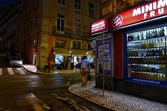 late night shop (*F~) Tags: street light people portugal fruits shop night lisboa human drinks caisdosodr mriocesariny