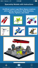 BrickSpace - building instructions app for iPad iPhone (cherryhilltech) Tags: lego space nasa micro instructions spaceship build app iphone ipad brickspace microspacetopia