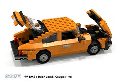 SAAB 99 EMS 3-Door Combi-Coupe (1978) (lego911) Tags: auto birthday snow classic car model lego sweden render turbo 99 1978 1968 ems 7th saab combi coupe challenge 41 cad lugnuts snowedin povray 84 moc ldd miniland 3door 3dr combicoupe lego911 lugnutsturns7or49indogyears