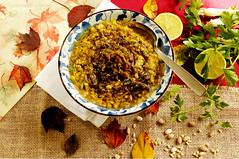 Ash-e Haft Daneh -Seven Bean Soup (Turmeric & Saffron) Tags: soup stew ash persianfood iranianfood  mehregan sevenbeansoup mehregan2014