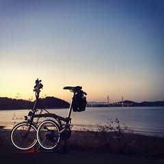 일몰...  환상~  #일몰 #sunset #로미 #브롬톤 #brompton #맞팔 #소통