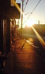Morning, on king (marc falardeau) Tags: light urban sun toronto dawn sunday deserted parkdale iphone kingstreetwest