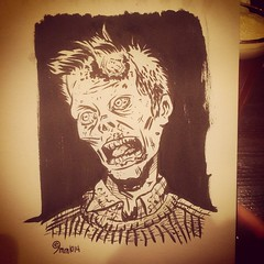 Zombie Zach, day one of #inktober #zombie #halloween #horror #ink #drawing #cartooning  #sweater #undead #chicago (9mm Eds Photos) Tags: halloween square sweater zombie dude squareformat horror undead earlybird iphoneography inktober instagramapp uploa
