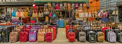Excess Baggage DSC_6379.jpg (Sav's Photo Gallery) Tags: street city uk streetart london fashion cityscape colours market candid capital shoreditch baggage bricklane cases d7000 savash