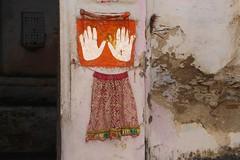 Hands on (Shrimaitreya) Tags: india colorful indian hindu hinduism rajasthan bharat incredibleindia streetshrine