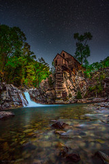 Lost Horse Mill (NinetySeventy) Tags: mountains fall mill night canon stars landscape photography eos waterfall colorado colorful nightscape crystal rocky eosm