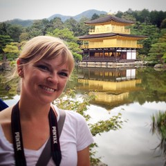 And now Emily wants a gold house... Must. Get. Job. #Kinkakuji Temple #Kyoto #Japan