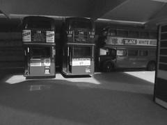 Back ends.... (kingsway john) Tags: hd rt harow weald garage bus model scale 176 kingsway models advertisements adverts interior self adhesive londontransportmodel diorama oo gauge miniature