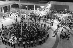 DSCF6979 (Ching Verena /ig@vw.foto) Tags: bw hongkong student government strike fujifilm x10 hkpolice umbrellarevolution flickrhongkong umbrellamovement occupycentral scholarism flickrhkma hkclassboycott 雨傘運動