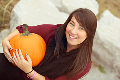 3C6A6439 (Cassandrajade) Tags: autumn portrait ontario color colour fall leave mill colors girl beautiful smile leaves lady female portraits canon pumpkin happy leaf october pretty colours happiness niagara falls selftaught portraiture kayla morningstar decew morningstarmill