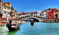 gondoliers working the grand canal (Rex Montalban Photography) Tags: venice italy europe italia venezia hdr gondoliers gondolas nikond600 rexmontalbanphotography