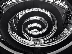 Charybdis (IngeniousImages) Tags: city uk england urban bw london art monochrome architecture stairs buildings spiral mono britain cityhall gb british helix openhouse