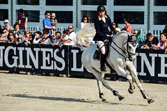 Nadja Peter-Steiner riding Capuera II (yasminabelloargibay) Tags: horse caballo cheval grey mare cavalier cavallo cavalo pferd equestrian stallion equine csi hest paard showjumping hpica horserider gelding showjumper equestrianism equitacion hipismo