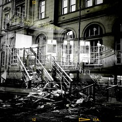 Fire Damage (k8rry) Tags: cinema fire interior leeds nightclub majestic vignette bingohall majestyk quebecstreet gradeiilisted classicaldome pascaljstienlet parthenonstylefrieze
